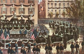 Lincoln S Funeral March Through New York City Green Wood