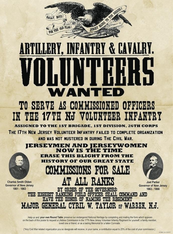 Civil war volunteer poster