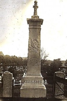 The Creighton Monument, as it appeared in the 19th century.