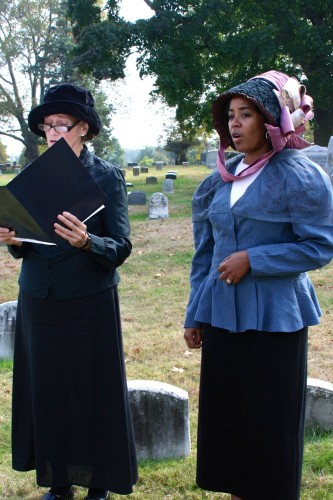 Marie Depalma and Tracy Garrison-Feinberg sang 19th-century songs.