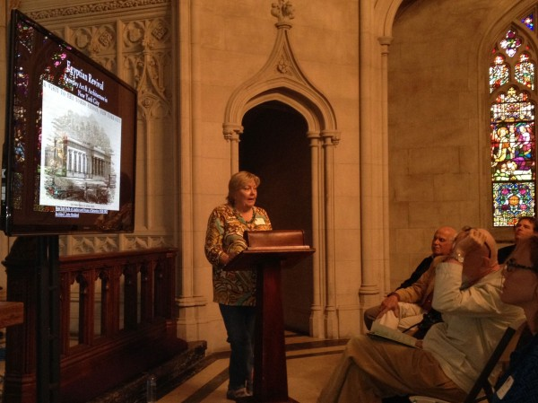 Elizabeth Broman speaking about New York City's Egyptian Revival Funerary Art & Architecture.