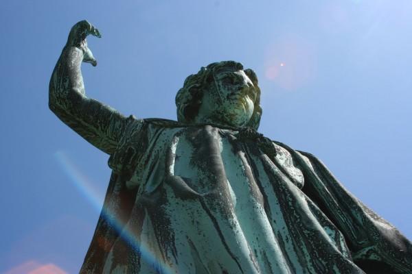 Henry Kirke Brown's bronze of William Satterlee Packer at Green-Wood.