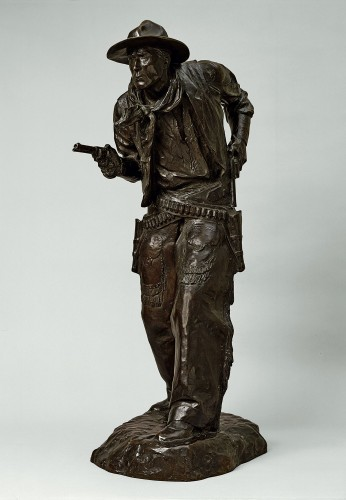 """Charles Cristadoro's """"Two Gun Bill (William S. Hart)."""" 1917 (Autry National Center of the American West, Los Angeles."""