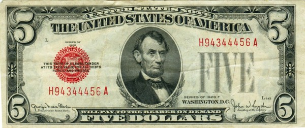 One of Anthony Berger's portraits of Lincoln was used as the basis for the portrait on the $5 bill.