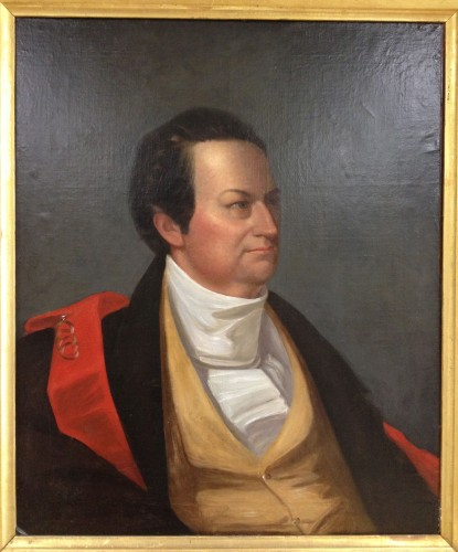 George Catlin's painting of De Witt Clinton is a prize possession of The Green-Wood Historic Fund.