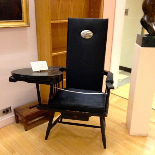 The chair in which De Witt Clinton died.