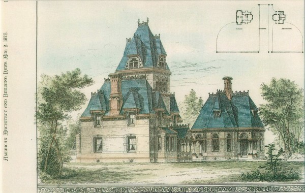 This drawing of the gatehouses appeared in 1876.
