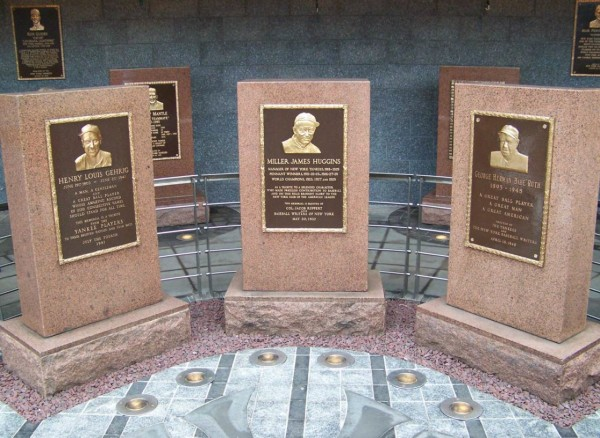 Next time you visit Monument Park in Yankee Stadium, take a look at the monuments--the bronze plaques telling the stories of the individuals honored there are mounted on what look very much like cemetery monuments.
