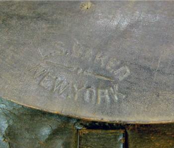 Cartridge box marked L. S. Baker-1861 NY