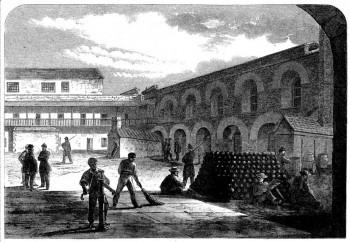Interior of Fort Lafayette, New York Harbor,1865