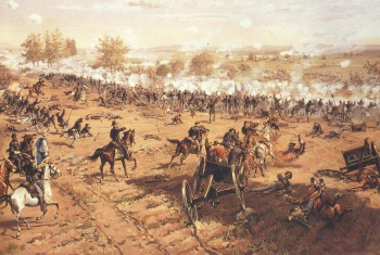 Battle of Gettysburg by De Thulstrup