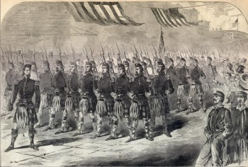 Woodcut of the 79th New York-the Highlanders