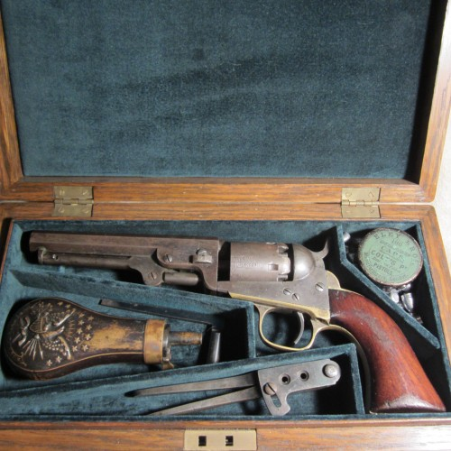 Captain Copcutt's cased Colt revolver. From the Dennis C. Schurr Collection.