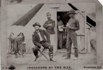 Julius Hicks in Civil War uniform
