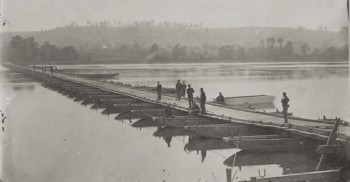 Bridge built by the 15th Engineers in December 1862, photographed in spring 1863.