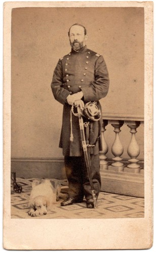 Kimball and his dog Zephyr. From the Dennis C. Schurr Collection.