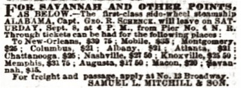 Advertisement in The New York Times , September 6, 1860