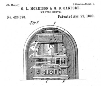 Patent for stove