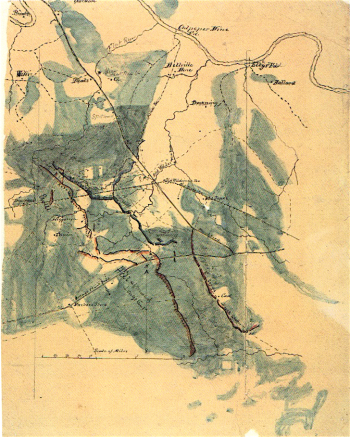 William H. Paine's Sketch of the Battle of the Wilderness, May 5 and 6, 1864, Number 1