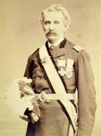 Charles Roome in his Masosnic uniform