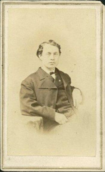 04502 Gen Edward W Serrell 1st NY Engineers Swamp Angel color Civil War photo