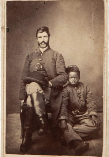 An Civil War officer and his servant.