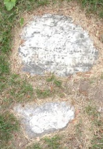 Margaret Pine's gravestone, as it was found recently.