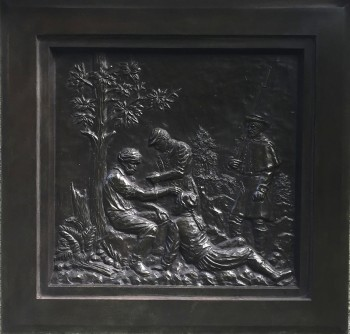 The bronze plaque at Green-Wood.
