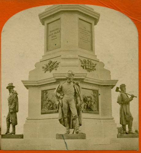 New York City's Civil War Soldiers' Monument at Green-Wood, circa 1875.