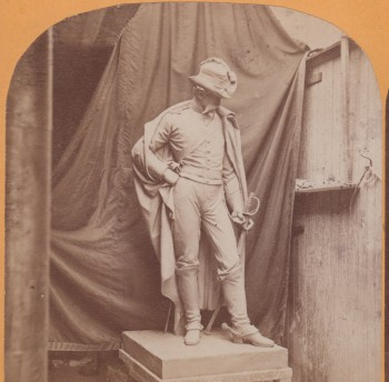 The Cavalryman. His face is modeled on that of General George Armstrong Custer.