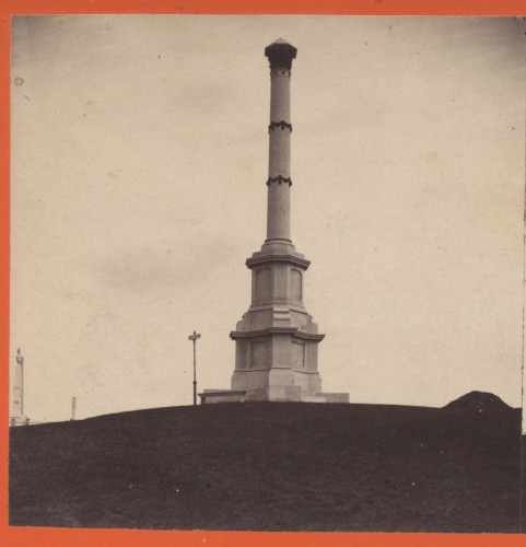 New York City's Civil War Soldiers' Monument, circa 1870, before the zincs and bronzes were added.