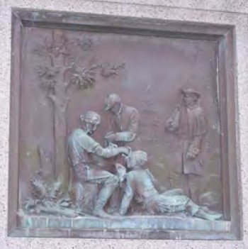 From the Holyoke Civil War Monument, north side, described in the Massachusetts Historical Commission's report as
