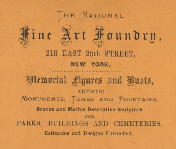 The Fine Art Foundry, on 25th Street in Manhattan, which likely cast the zinc soldiers.