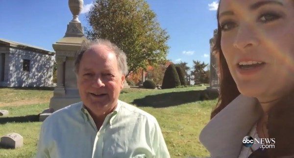 On Battle Hill with ABC News reporter Charli James.