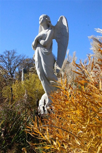 This angel had no wings; it was restored by Frank Morelli, supervisor of Green-Wood's Restoration Team.