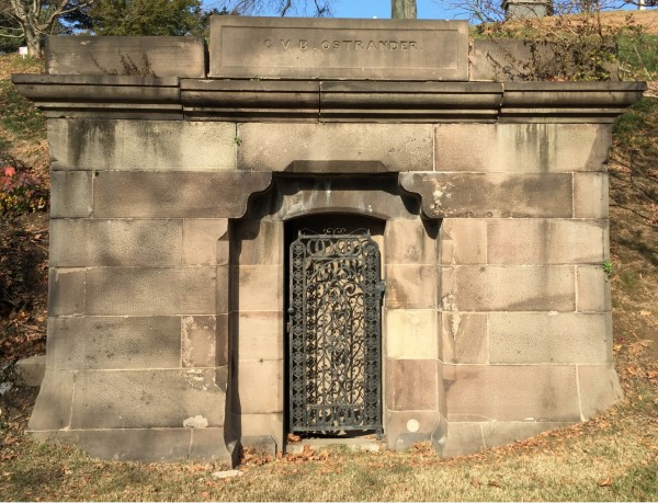 C.V.B. Ostrander's mausoleum, which he asked William Pitbladdo to work on in 1867.