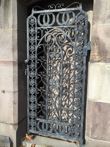 This iron door was ordered from Pitbladdo in 1867; he would have obtained it from a supplier and charged $7 for it.