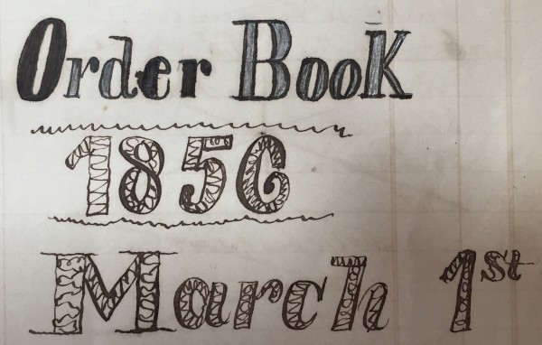 This was the first indication that this book dated from the mid-19th century.