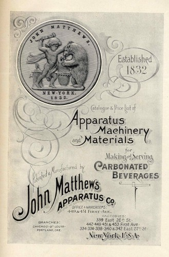 The cover of a Matthews catalogue, dating circa 1875.