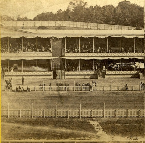 """Grand Stand, Front View."" Published by E. & H.T. Anthony Co."