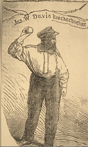 James Whyte Davis in a woodcut from 1865.