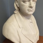 The bust of Henry Ward Beecher (1813-1887). He is interred at Green-Wood in section 139/140, lot 25911.