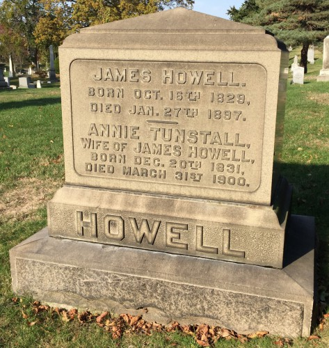The final resting place of James and Annie Howell: section 113, lot 16983.