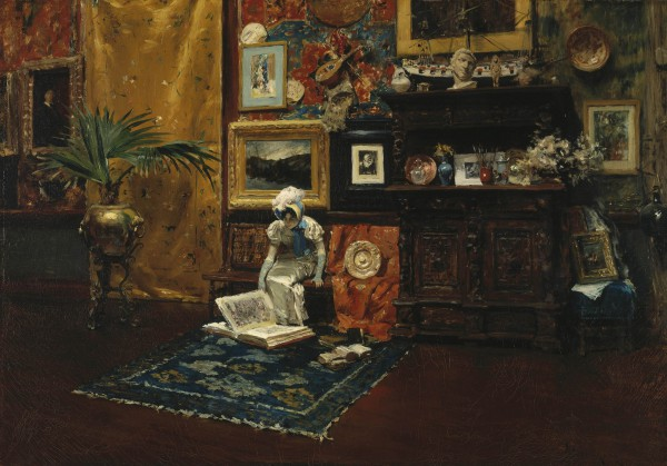 Studio Interior William Merritt Chase (American, 1849–1916) about 1882 Oil on canvas *Brooklyn Museum, Gift of Mrs. Carll H. de Silver in memory of her husband *Brooklyn Museum photograph *Courtesy, Museum of Fine Arts, Boston
