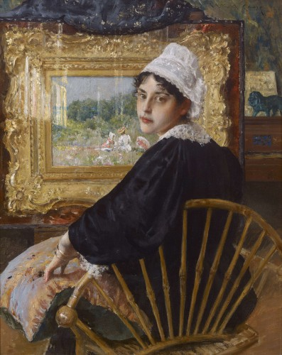 An Artist's Wife William Merritt Chase (American, 1849–1916) 1892 Oil on canvas *Private Collection *Courtesy, Museum of Fine Arts, Boston