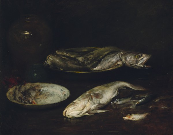 Still Life—Fish William Merritt Chase (American, 1849–1916) about 1900 Oil on canvas * The Hayden Collection—Charles Henry Hayden