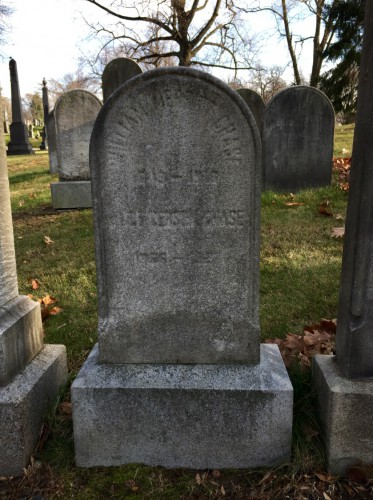 This gravestone in lot 1739 memorializes William Merritt Chase and Alice Gerson Chase.