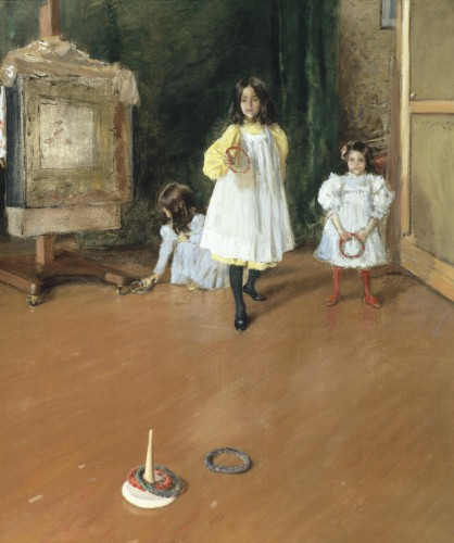 The Ring Toss William Merritt Chase (American, 1849–1916) about 1896 Oil on canvas *The Halff Collection *Courtesy, Museum of Fine Arts, Boston