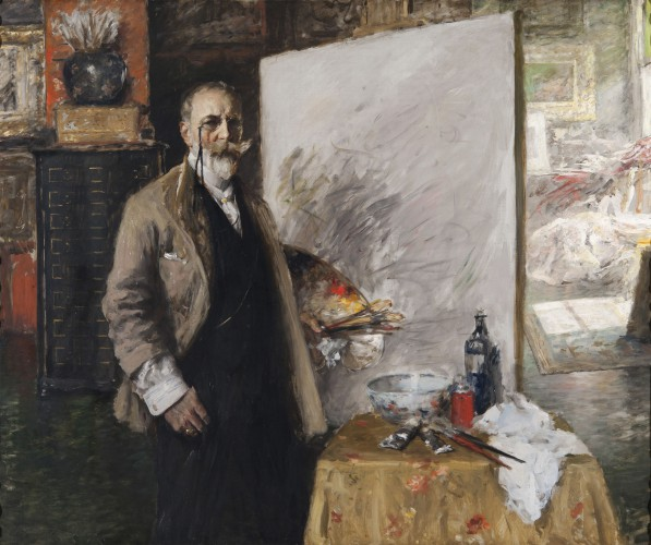 Self‑Portrait in the 4th Avenue Studio William Merritt Chase (American, 1849–1916) 1915‑16 Oil on canvas *Purchase by Richmond Art Museum and gift of Warner M. Leeds *Courtesy, Museum of Fine Arts, Boston