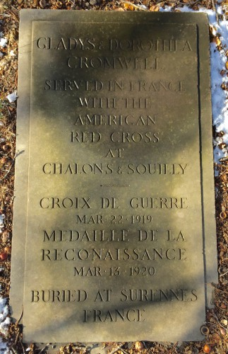 This stone, flush with the ground, details their history, including the awards they received for their service.